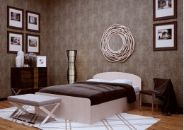 Кровать (спальное место 2х0.8)
