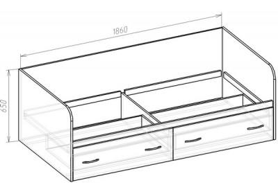 Кровать с ящиками  (спальное место 2х0.9)