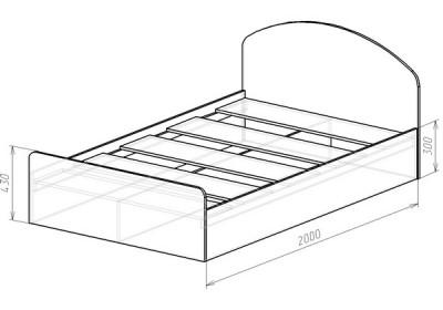 Кровать (спальное место 2х1.2)