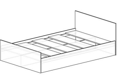 Кровать со штапиком (спальное место 2х1.4)