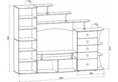 Мебель для гостиной №12